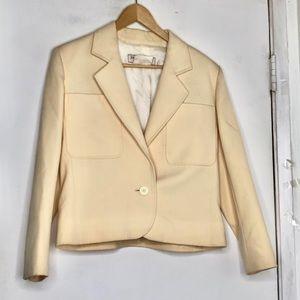 Yves Saint Laurent Variation Vintage Cream Jacket
